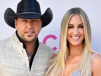 Jason Aldean and Brittany Kerr at the 2017 ACM Awards
