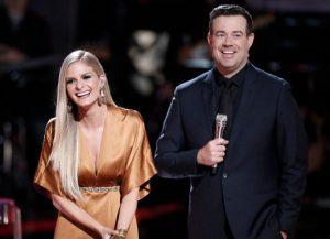 Lauren Duski and Carson Daly on The Voice Season 12