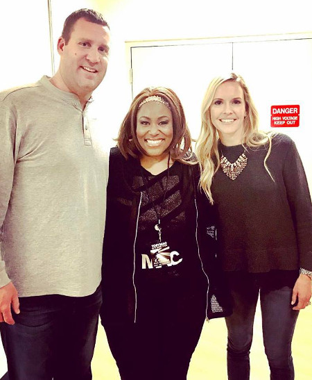 Mandisa meets with Ben Roethlisberger and his wife Ashley following a show in Pittsburgh last month. According to the captain, she sang at their wedding.