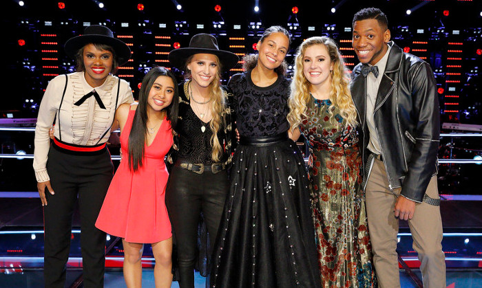 Members of Team Alicia in the live playoffs include Vanessa Ferguson, Anatalia Villaranda, Stephanie Rice, Ashley Levin and Chris Blue. (NBC Photo)