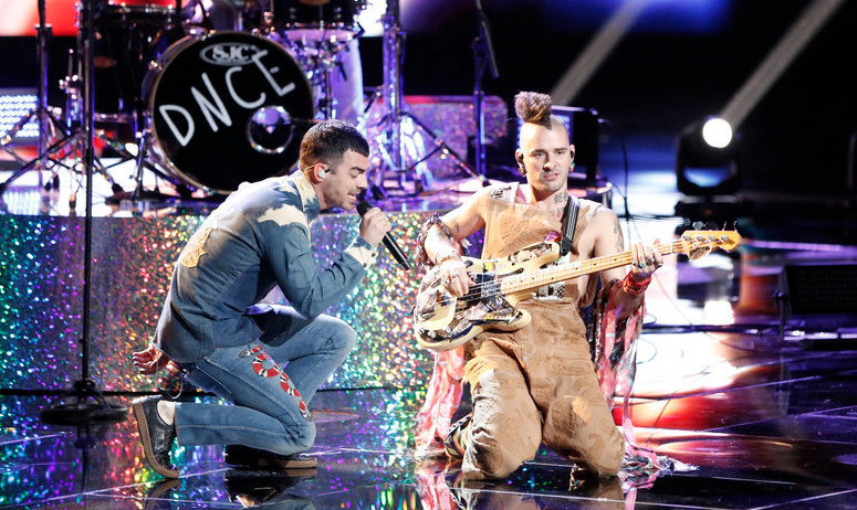 DNCE performs on The Voice Season 12 semifinal results show. (NBC Photo)
