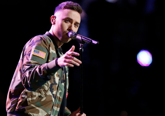 Hunter Plake performs for the instant save last week on The Voice. (NBC Photo)
