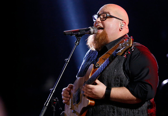 Jesse Larson earned the last spot in The Voice finals Tuesday night. (NBC Photo)