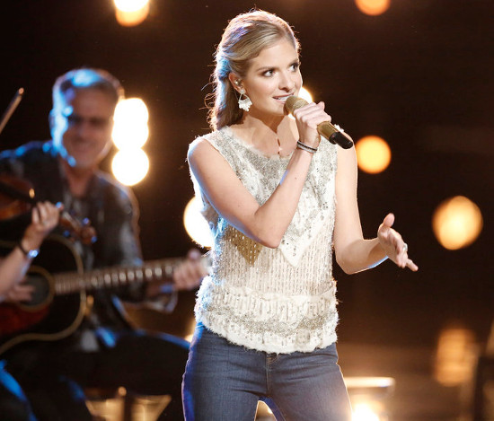 Lauren Duski of Team Blake Shelton is poised to top the iTunes singles chart for The Voice. (NBC Photo)