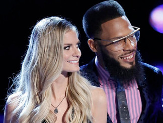 Lauren Duski and TSoul await results on The Voice Season 12