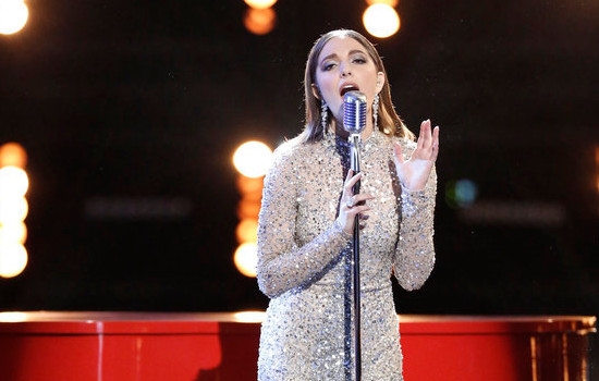 Lilli Passero performs during Monday's Top 10 night on The Voice Season 12 (NBC Photo)