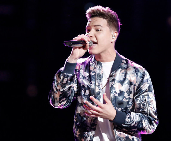 Mark Isaiah performs his save song during Tuesday's episode of The Voice. (NBC Photo)