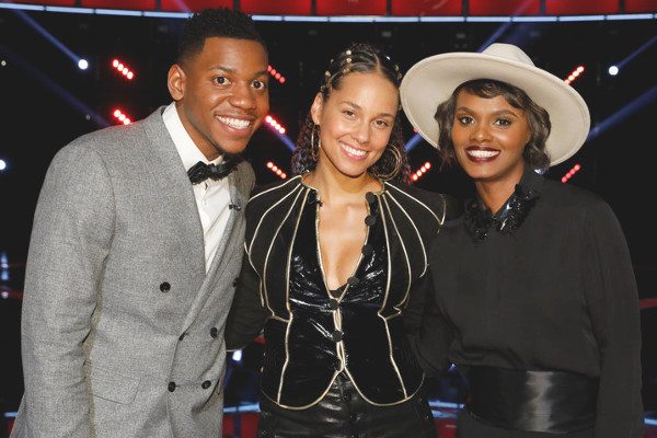 The remaining members of Team Alicia Keys includes Chris Blue and Vanessa Ferguson (NBC Photo)