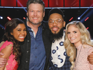 All three of Blake Shelton's finalists are still singing on The Voice, including Aliyah Moulden, TSoul and Lauren Duski. (NBC Photo)