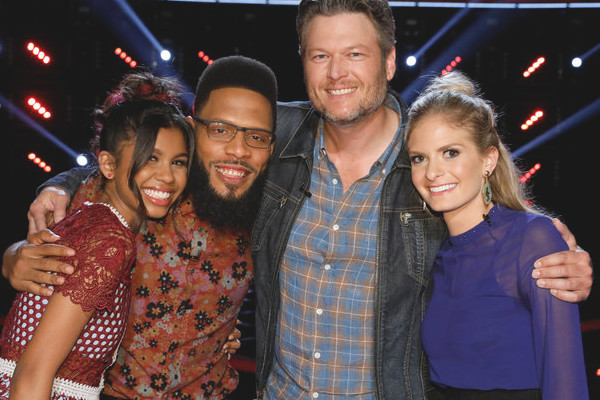 The remaining members of Team Blake Shelton  include Aliyah Moulden, TSoul and Lauren Duski (NBC Photo)