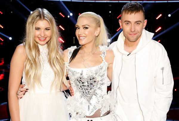 The remaining members of Team Gwen Stefani inlcude Brennley Brown and Hunter Plake (NBC Photo)