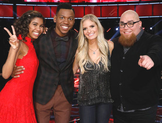 The Season 12 Top 4 on The Voice -- Aliyah Moulden, Chris Blue, Lauren Duski, Jesse Larson