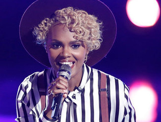 Vanessa Ferguson performs her save song on The Voice Tuesday night. (NBC Photo)