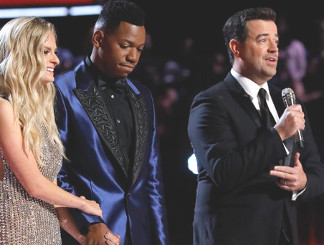 Lauren Duski, Chris Blue, Carson Daly (NBC Photo)
