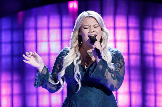 Ashland Craft turned three chairs with her blind audition on The Voice. (NBC Photo)