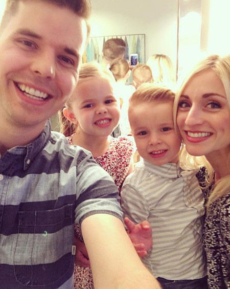 Dave Crosby backstage at The Ellen Show with daughter Claire, son Cameron and wife Ashley