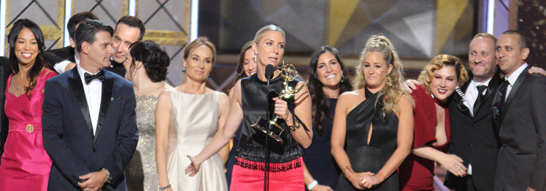 The Voice tweeted out this photo of Sunday's Emmy victory.