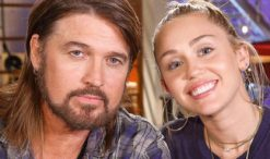 Billy Ray Cyrus and Miley Cyrus of The Voice Season 13