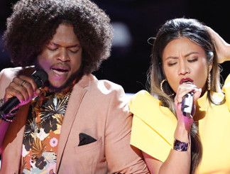 Davon Fleming and Maharasyi perform during the battle round on The Voice Season 13