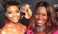 Jasmine Murray and Mandisa at the Dove Awards