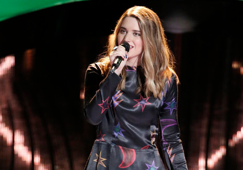 Karli Webster during the fourth blind audition episode of Season 13 on The Voice.
