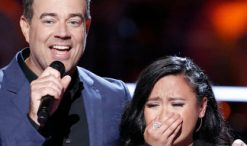 Kathrina Feigh with Carson Daly on The Voice Season 13