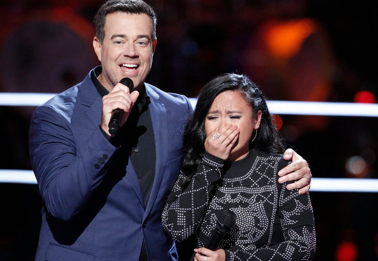 Kathrina Feigh reacts to being stolen by Blake Shelton on The Voice Season 13