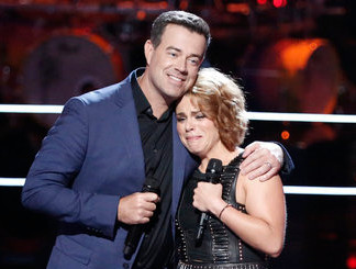 Katrina Rose with Carson Daly on The Voice Season 13