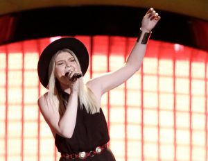 Megan Rose performs on the final night of blind auditions for The Voice. (NBC Photo)