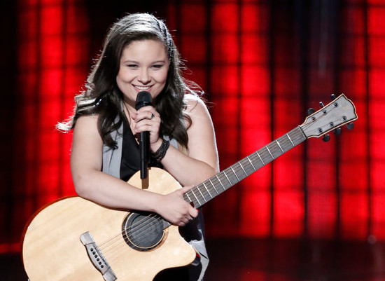Moriah Formica was one of the teenagers to impress The Voice coaches during Monday's episode