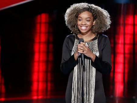 Shi'Ann Jones is the youngest of the Season 13 cast members on The Voice. (NBC Photo)