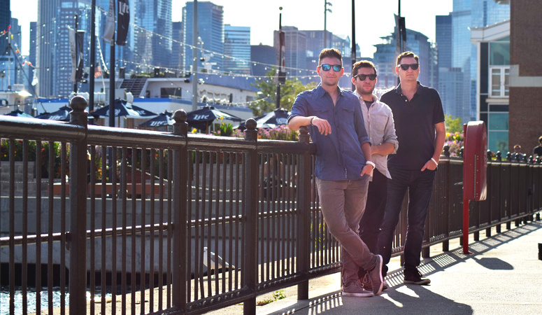 The Shades --  (from left) Phil Jacobson, Andrew DeMuro, Mark Jacobson -- released their debut EP on Friday.