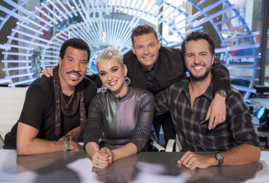 Ryan Seacrest with the new American Idol judging panel of Lionel Richie, Katy Perry and Luke Bryan (ABC Photo)
