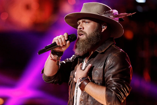 Adam Cunningham performs during the playoffs on The Voice. (NBC Photo)