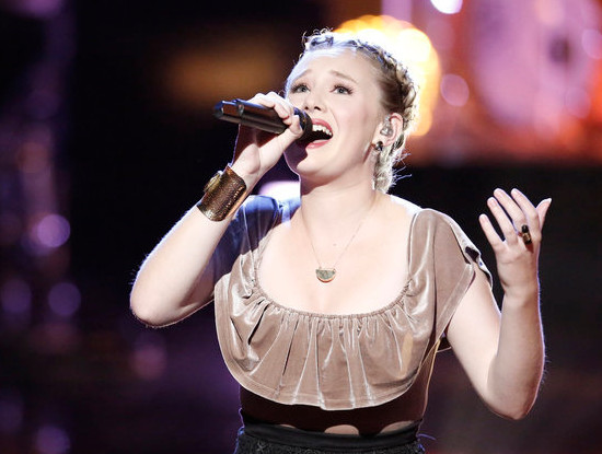 Addison Agen performs during the live playoffs on The Voice. (NBC Photo