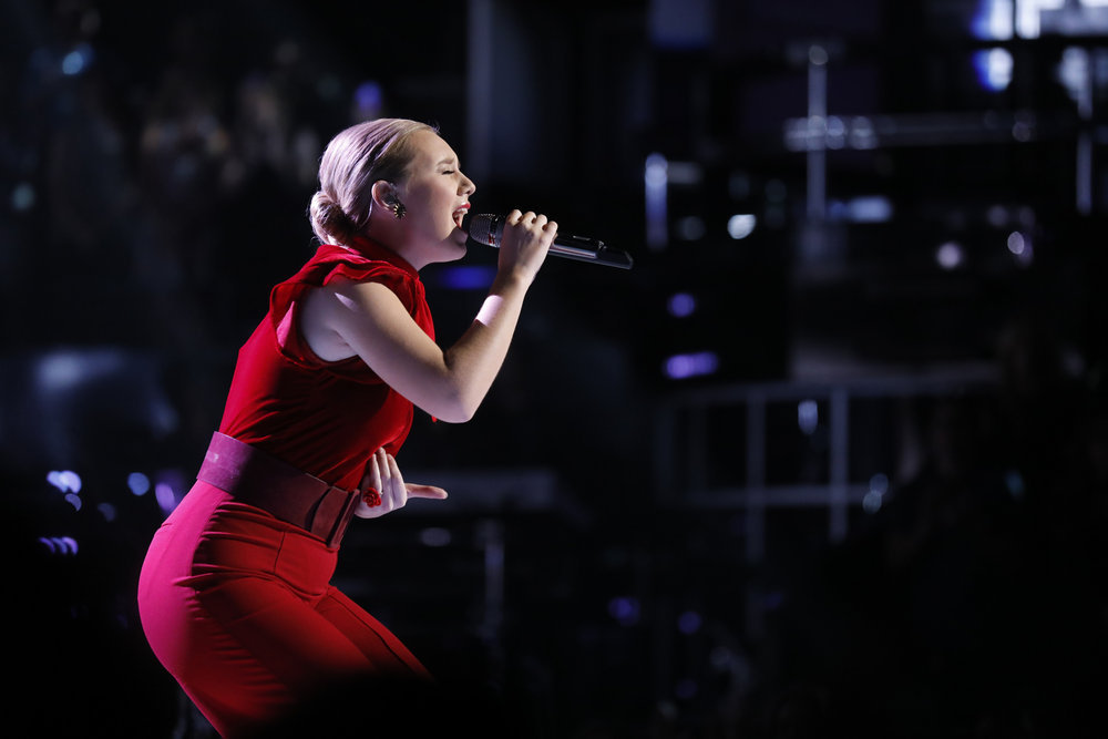 """Addison Agen sings """"She Used to be Mine"""" on The Voice. (NBC Photo)"""