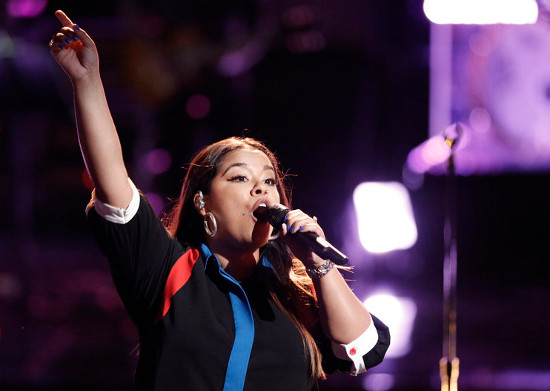 Brooke Simpson performs during the live playoffs on The Voice. (NBC Photo)