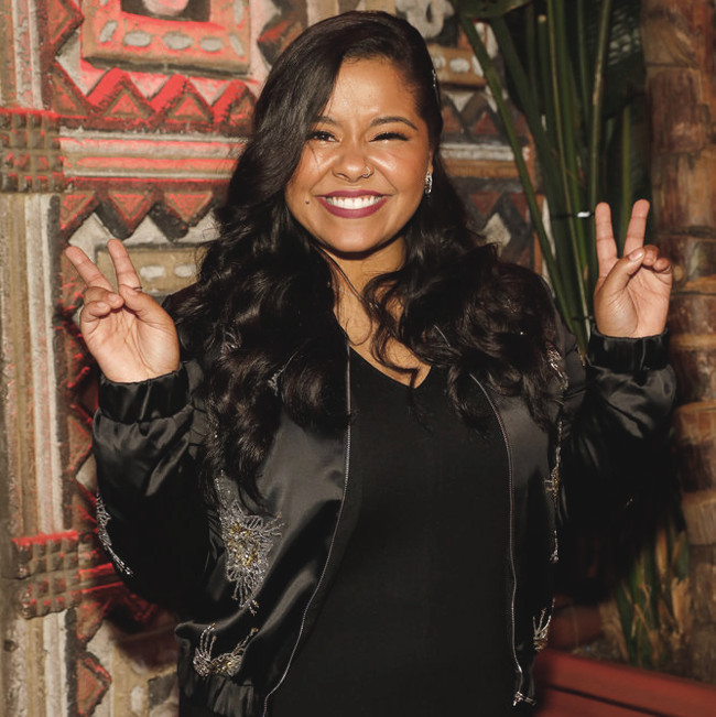 Brooke Simpson on the red carpet before The Voice Top 12 concert. (NBC Photo)
