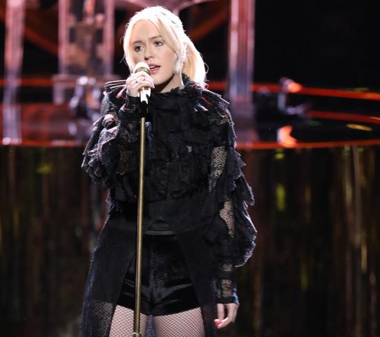 "Chloe Kohanski performs ""Total Eclipse of the Heart"" on The Voice Season 13. (NBC Photo)"