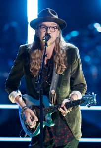 Dennis Drummond performs during the knockout round on The Voice. (NBC Photo)