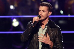 Dylan Gerard performs during the knockout round on The Voice Season 13. (NBC Photo)