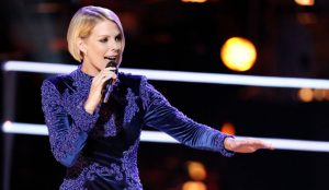 Emily Luther performs during the battle round on The Voice Season 13. (NBC Photo)