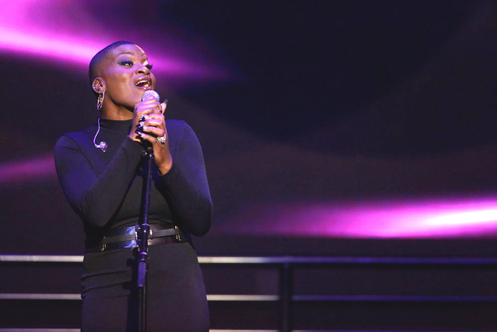 Janice Freeman performs during The Voice Top 12 concert. (NBC Photo)