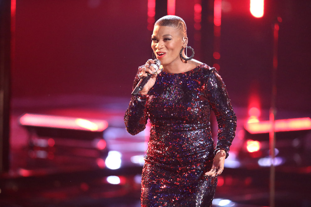 """Janice Freeman performs """"The Story"""" on The Voice. (NBC Photo)"""