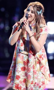 Karli Webster performs during the playoffs on The Voice. (NBC Photo)