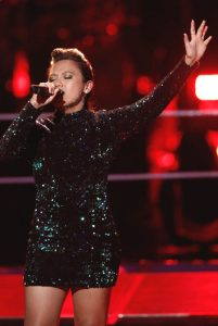 Kathrina Feigh performs during the knockout round on The Voice. (NBC Photo)