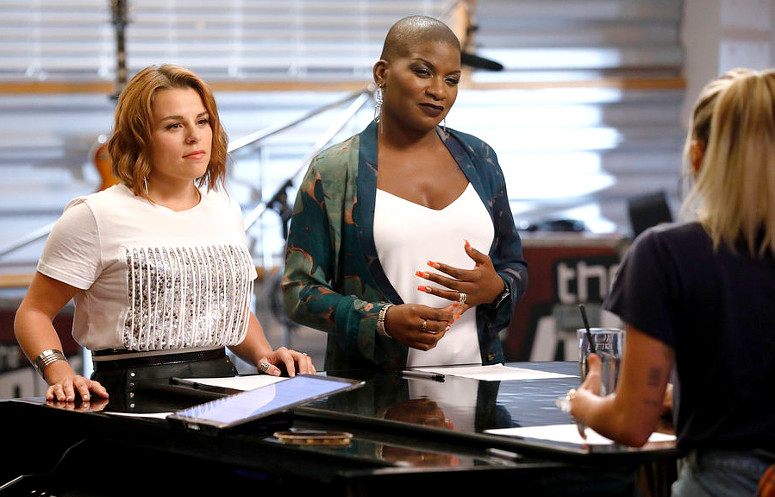 Katrina Rose and Janice Freeman talk about their battle round match with Miley Cyrus on The Voice. (NBC Photo)