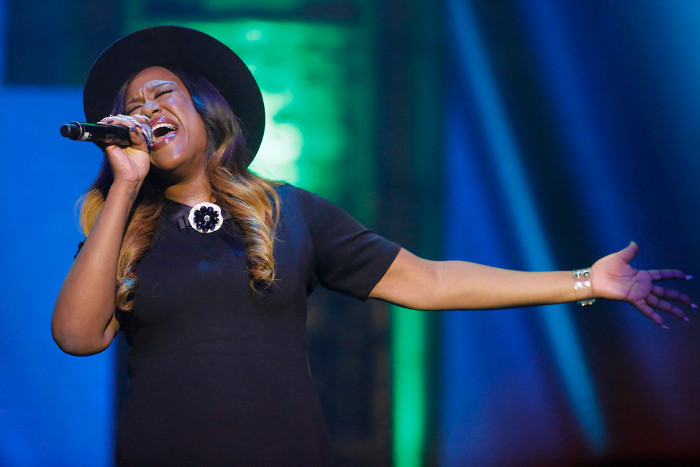 Keisha Renee performs during The Voice Top 12 concert. (NBC Photo)