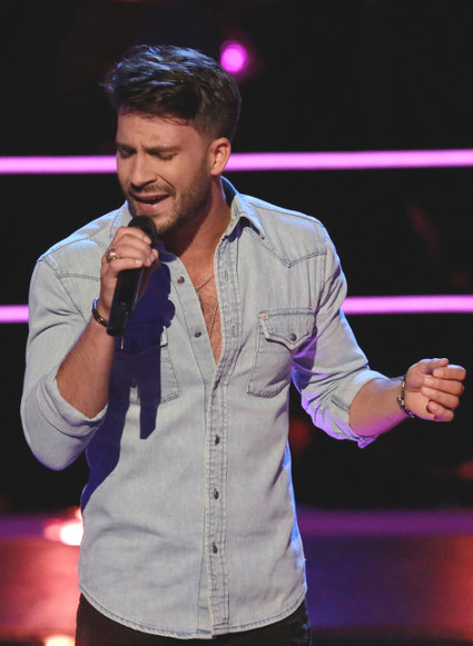 Mitchell Lee performs during the knockout round on The Voice. (NBC Photo)