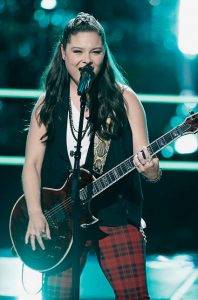 Moriah Formica performs during the knockout round on The Voice. (NBC Photo)